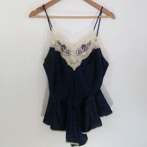 Vintage Lace Teddy Val Mode Lingerie Size M